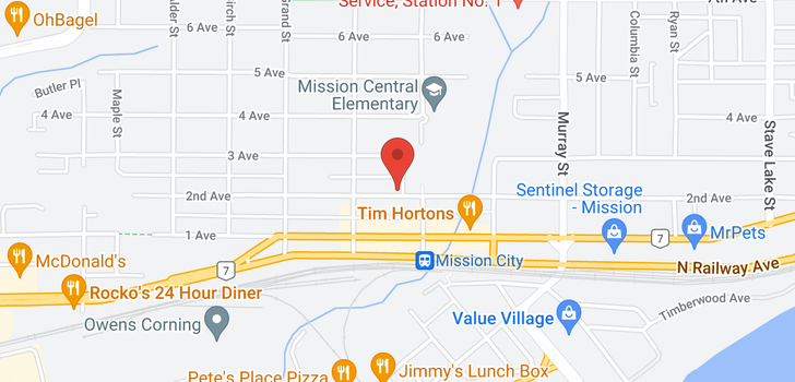map of 210 33165 2ND AVENUE