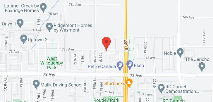 map of 19914 73A AVENUE