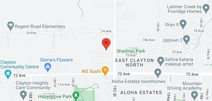 map of 7342 191B STREET