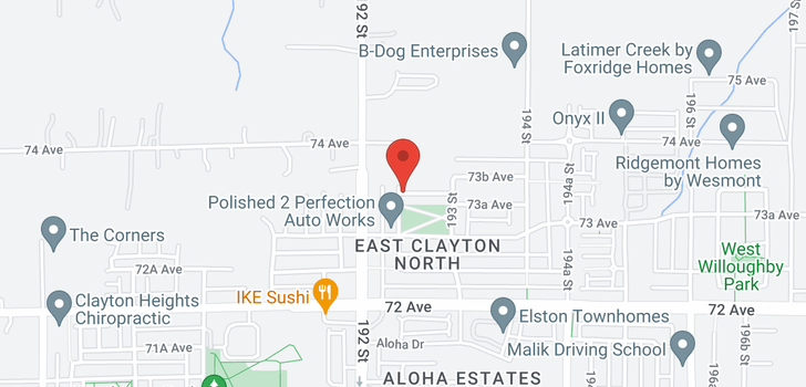 map of 5 7348 192A STREET