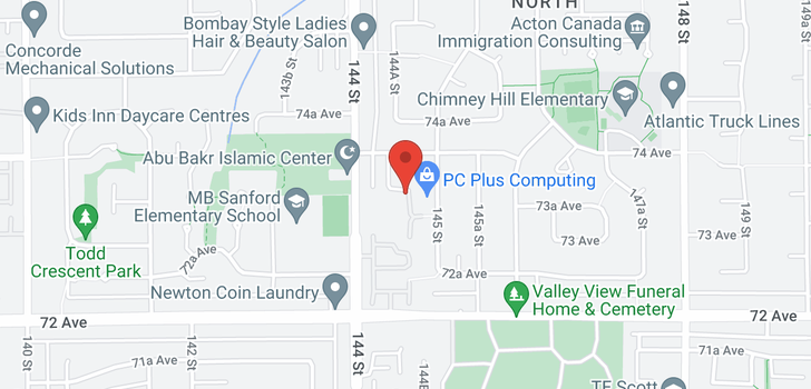 map of 75 14468 73A AVENUE