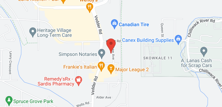 map of 204 7435 SHAW AVENUE