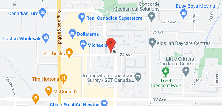 map of 65 13880 74 AVENUE