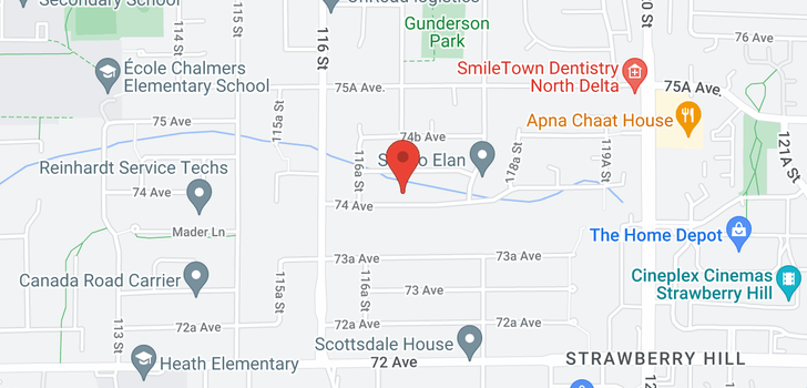 map of 11701 74 AVENUE
