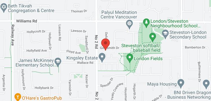 map of 6120 GOLDSMITH DRIVE
