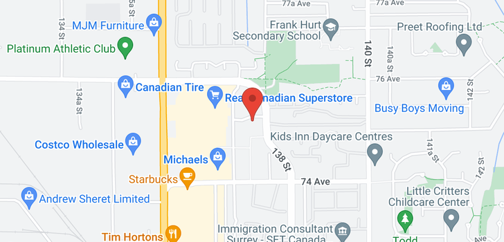 map of 303 13740 75A AVENUE
