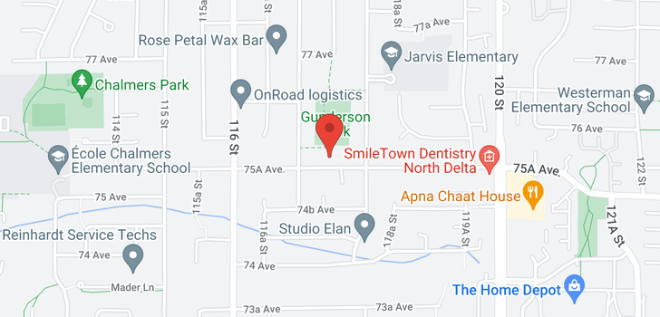 map of 11729 75A AVENUE