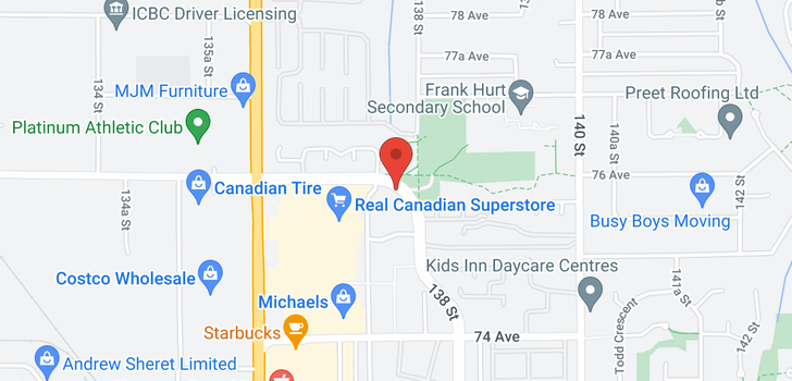 map of 404 13780 76 AVENUE