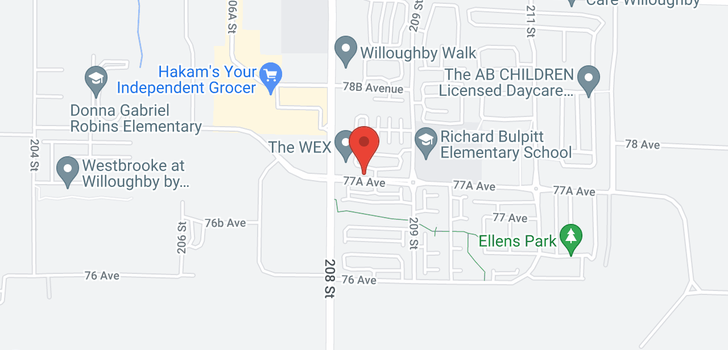 map of 40 20857 77A AVENUE