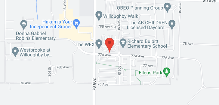 map of 86 20857 77A AVENUE
