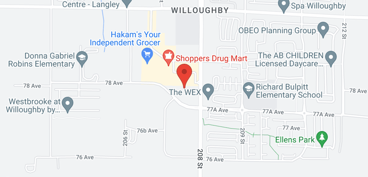 map of B327 20716 WILLOUGHBY TOWN CENTRE DRIVE
