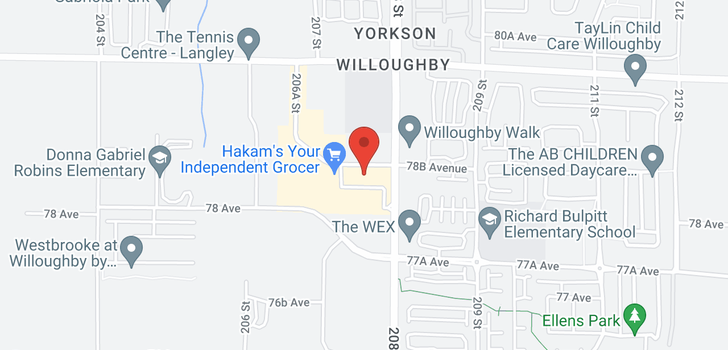 map of 315 20728 WILLOUGHBY TOWN CENTRE DRIVE