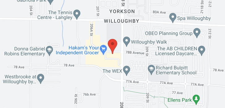 map of A612 20716 WILLOUGHBY TOWN CENTRE DRIVE