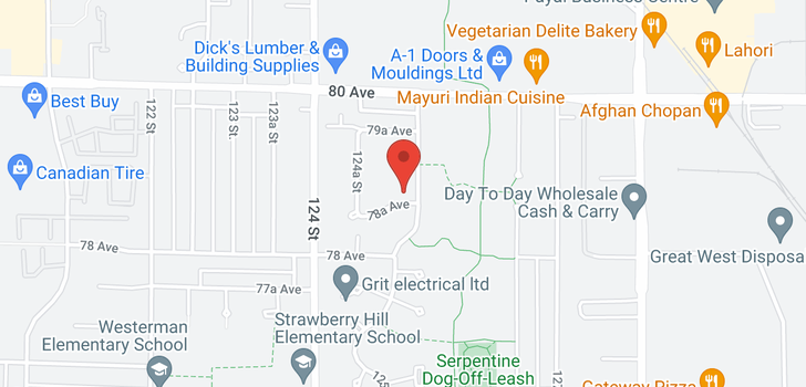 map of 12489 78A AVENUE