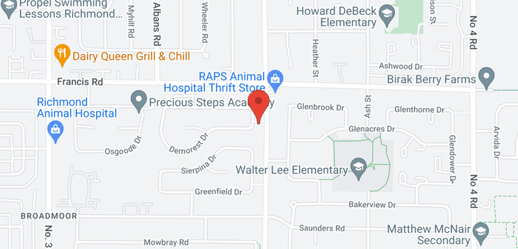 map of 8971 WAGNER DRIVE