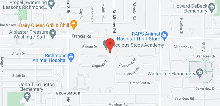map of 8360 OSGOODE DRIVE