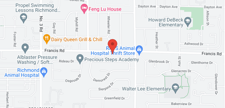 map of 9 8600 FRANCIS ROAD