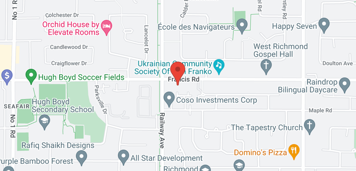 map of 5080 FRANCIS ROAD
