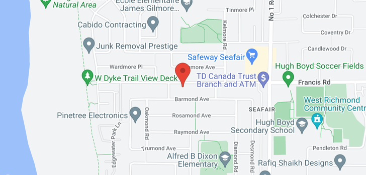 map of 3540 FRANCIS ROAD