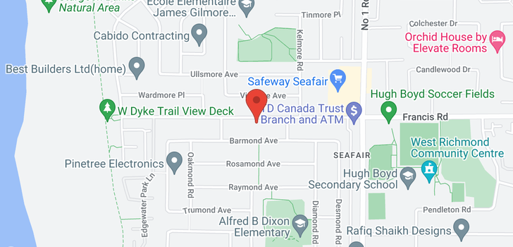map of 3600 FRANCIS ROAD