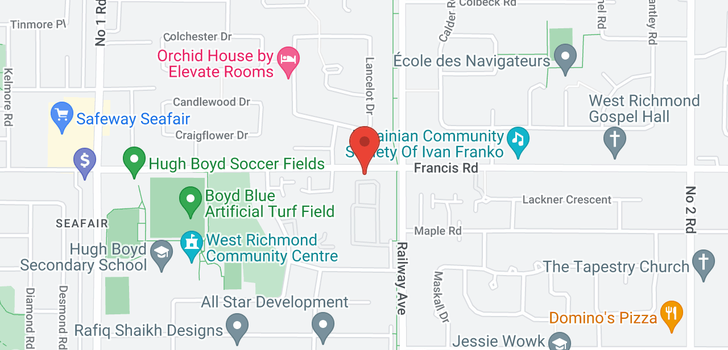 map of 403 4900 FRANCIS ROAD