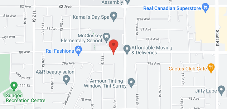 map of 11542 80 AVENUE