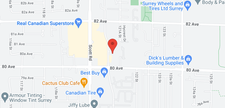 map of 306 8068 120A STREET