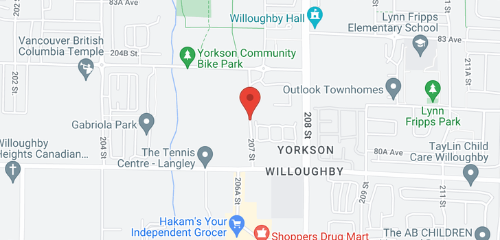 map of C523 8150 207 STREET