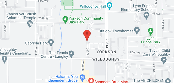 map of C214 8150 207 STREET