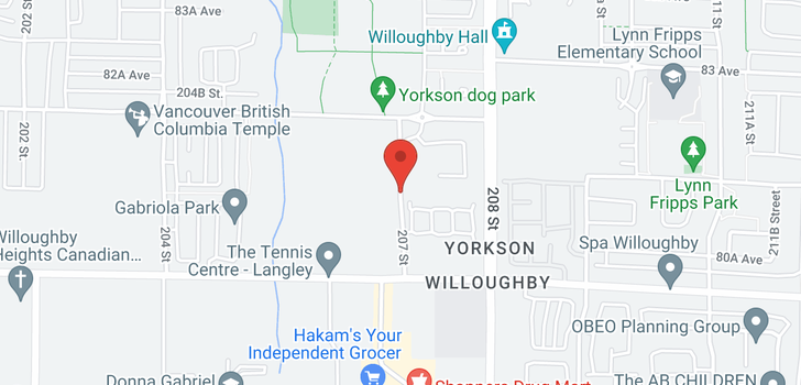 map of A320 8150 207 STREET