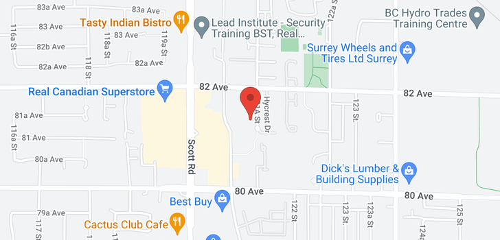 map of 301 8139 121A STREET