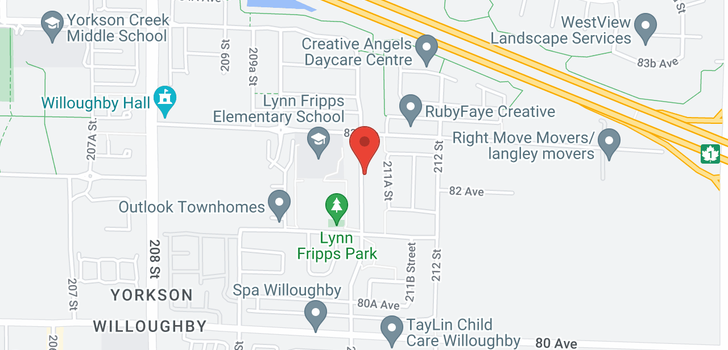 map of 8230 211 STREET