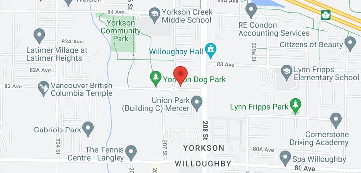 map of B116 8218 207A STREET