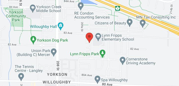 map of 87 8250 209B STREET