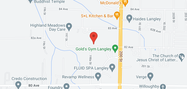 map of 19853 82 AVENUE