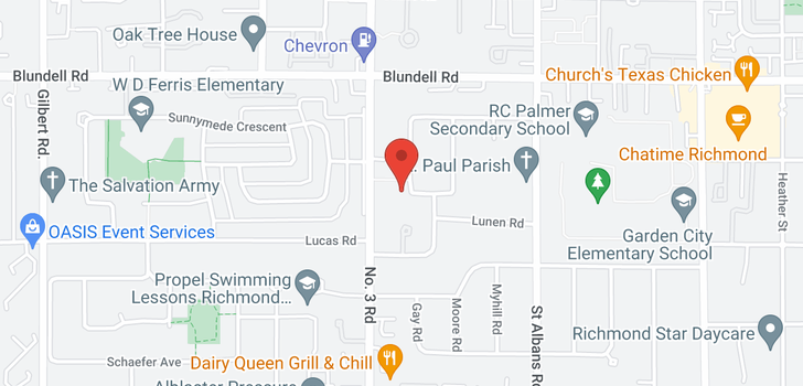 map of 8211 LUTON ROAD