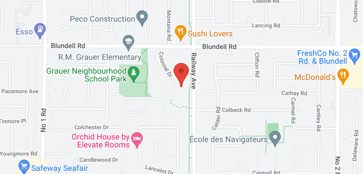 map of 421 8120 COLONIAL DRIVE