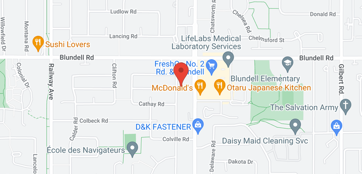 map of 8140 CANTLEY ROAD