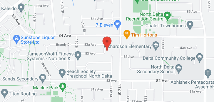 map of 8328 111A STREET