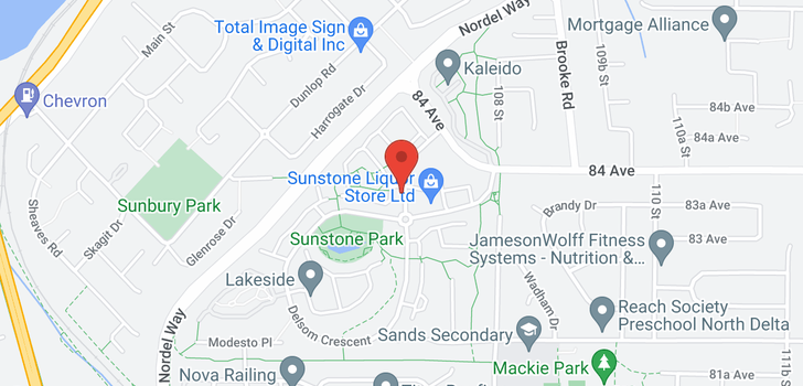 map of 81 8355 DELSOM WAY