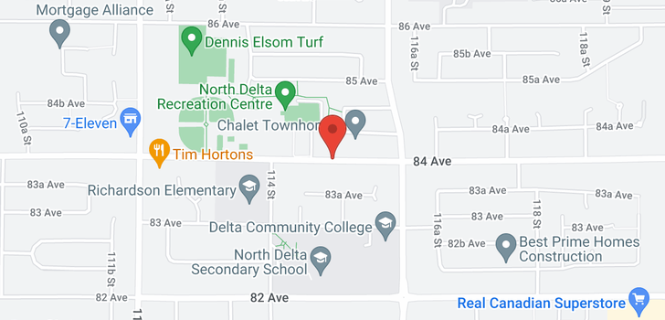 map of 508 11501 84 AVENUE