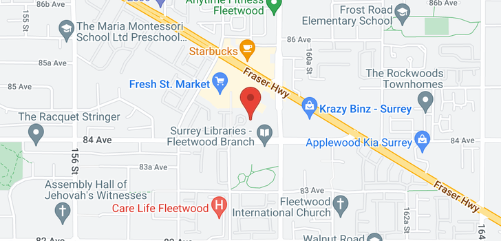 map of 205 15895 84 AVENUE