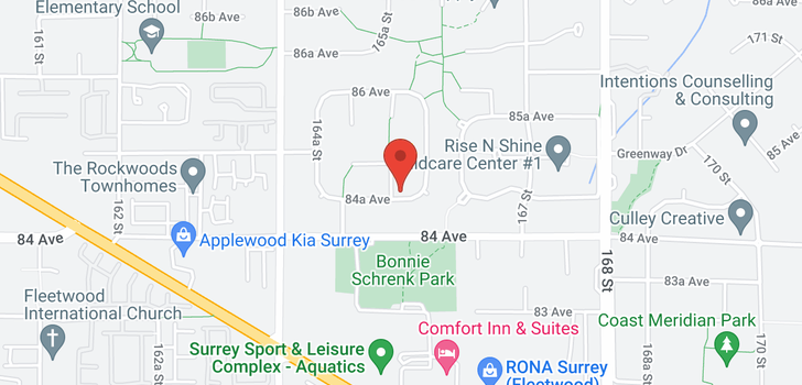 map of 8462 165A STREET