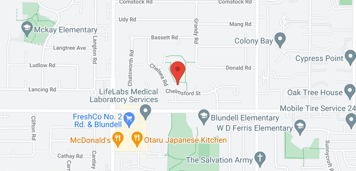 map of 6451 CHELMSFORD STREET
