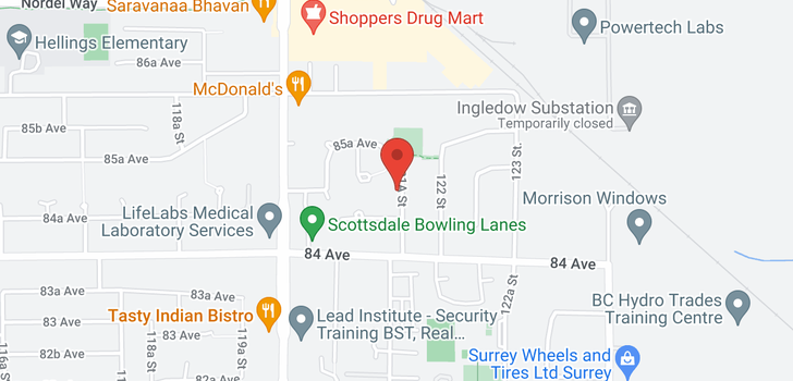 map of 8495 121A STREET