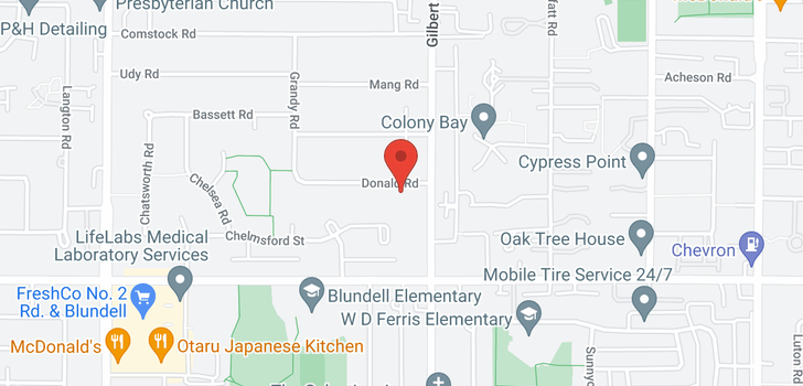 map of 6980 DONALD ROAD