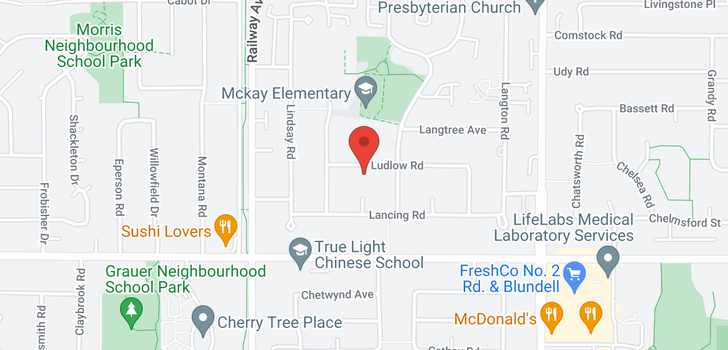 map of 5360 LUDLOW ROAD