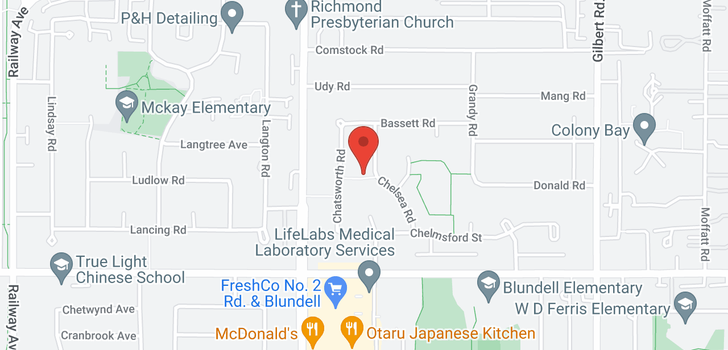 map of 7531 CHELSEA ROAD