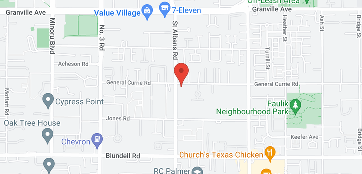 map of 107 7480 ST. ALBANS ROAD