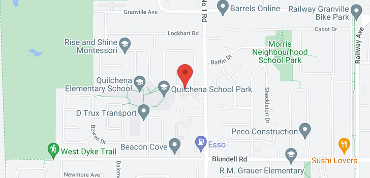 map of 52 3900 MORESBY DRIVE